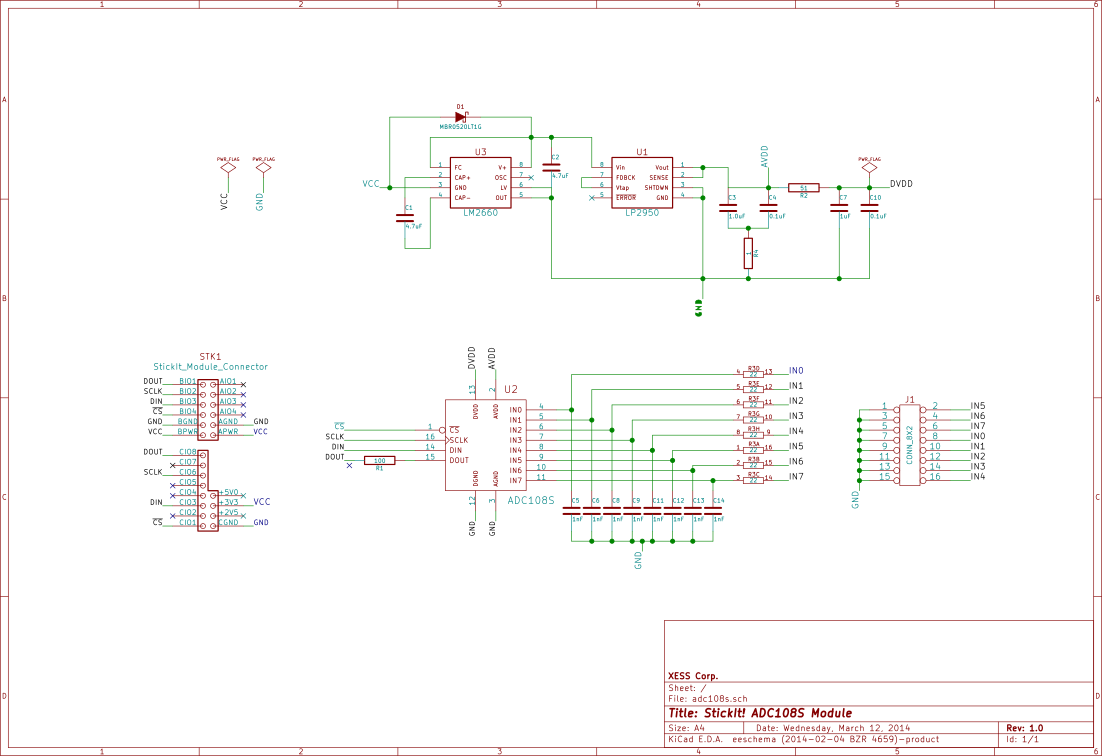 StickIt! ADC108S schematic