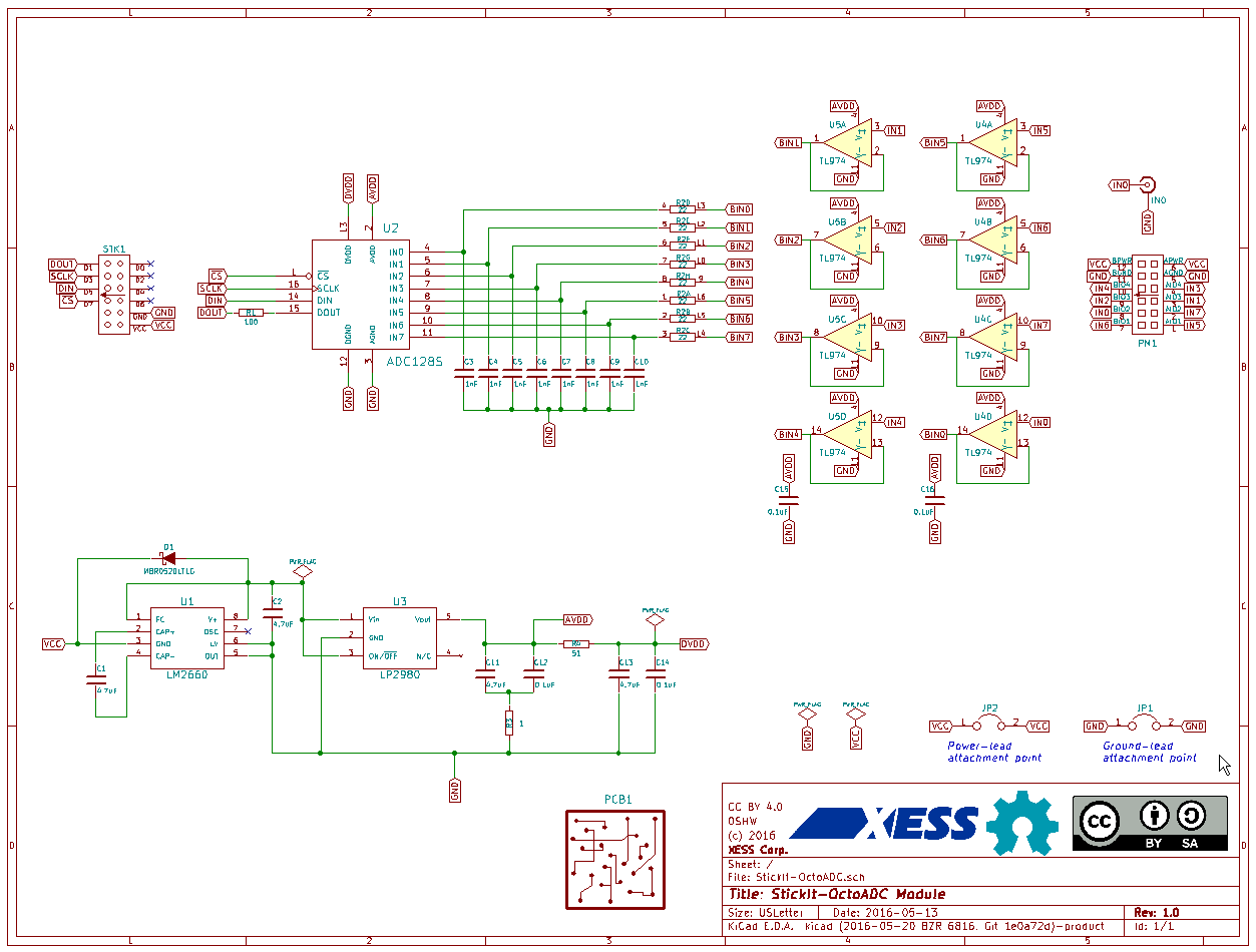 OctoAdc Board Schematic