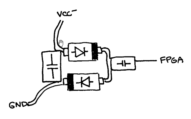 Component Arrangement for the Negative Voltage Generator